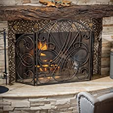 fireplace screens with doors. Rosalinda Black Gold Finish Floral Iron Fireplace Screen Screens With Doors