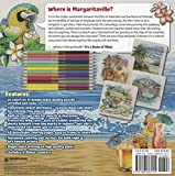 Margaritaville 5 O'Clock Somewhere Adult Coloring Book Collector's Edition With 24 Colored Pencils, Pencil Sharpener and 4 Drink Coasters