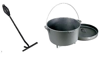 Vintage Gourmet (TM) - Horno holandés de hierro fundido (4 L, para ...