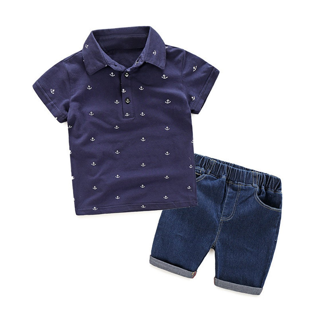 Short Toddler Boy Clothes Set Kids Clothes Boy Clothing Sets Print T Shirt
