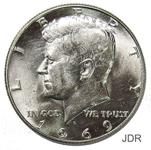 1969 D 40% Silver Kennedy Half Dollar 50¢ Brilliant Uncirculated (Half Dollar Kennedy Bu Coin)