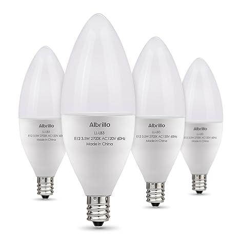 Albrillo E12 Bulb, LED Candelabra Light Bulbs 40 Watt Equivalent ...