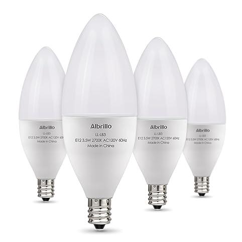 Albrillo e12 bulb led candelabra light bulbs 40 watt equivalent albrillo e12 bulb led candelabra light bulbs 40 watt equivalent warm white led chandelier aloadofball Choice Image