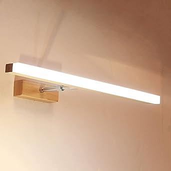 Appliques De Salle De Bain Bois Led Miroir Lampe Avant Salle