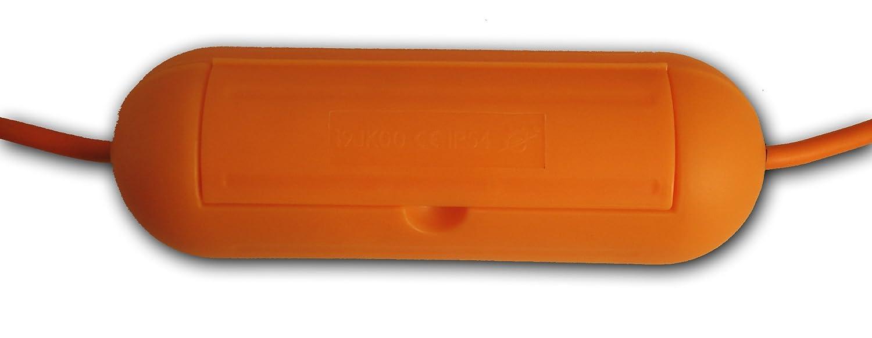 Zenitech - Boî tier de Protection Orange pour Prolongateur Jardin IP54 Enexo 3545411923038 rallonge électrique prolongateur electrique boite cache cable boitier protection prolongateur électrique rallonge electrique exterieur