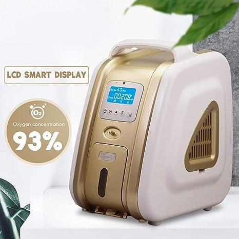 Concentrador de oxígeno 1-5 L/min Generador de oxígeno Ajustable ...