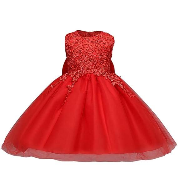 Vestido de niñas, ❤ Manadlian Vestido de Fiesta de Princesa con Encaje de Flor sin Mangas para Niñas: Amazon.es: Ropa y accesorios