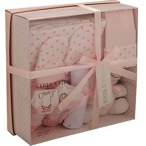 Set de regalo de 4 prendas, de 0 a 3 meses- rosa rosa Talla:recién nacido