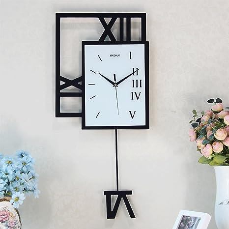Reloj de pared creativo de madera para el reloj de péndulo de la sala Reloj de