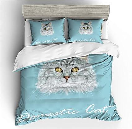 Stillshine Ropa de Cama King Size 3D Animales Gato Mascota ...