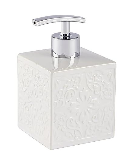 Wenko Cordoba Dosificador de Jabón 0.5 L, Cerámica, Blanco, 8.5x8.5x13