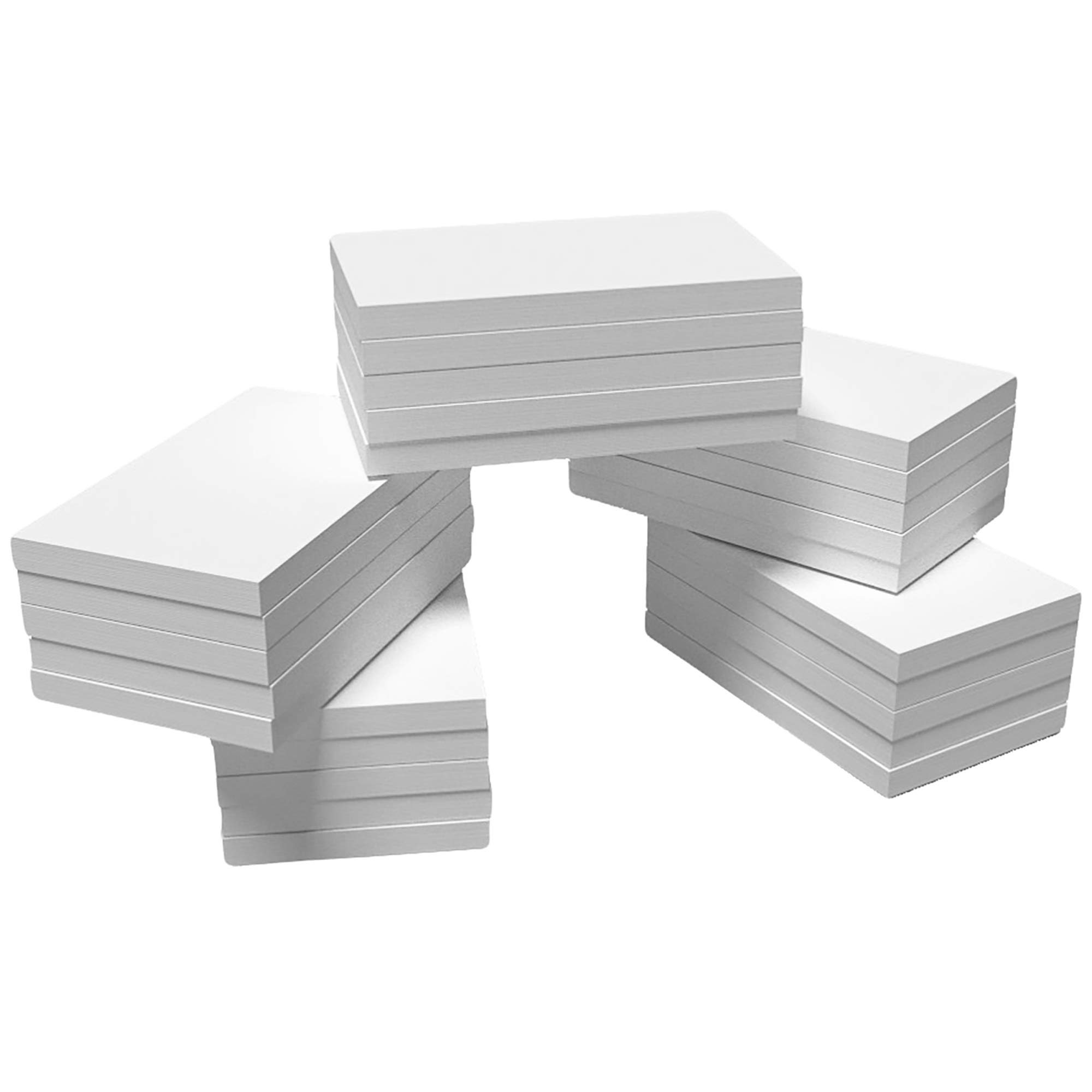 DEBRADALE DESIGNS - Blank Unlined Plain Memo Pads Unruled - 3'' x 5'' Inches - White - Bulk 25 Notepads of 100 Sheets - Each Notepad Glued at 3 Inch Edge - Great Scratch Pads for Every Room in the House by DEBRADALE DESIGNS