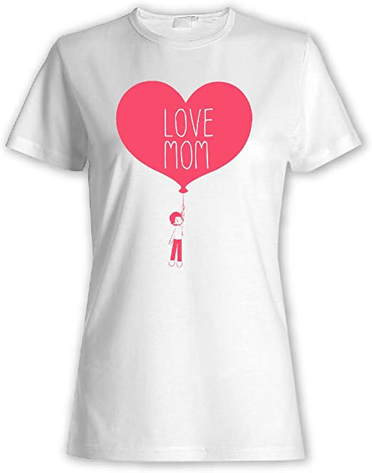 My Custom Style - Camiseta para Mujer, Color Blanco, 100% algodón, 155 g Blanco Festamamma Lovemom1 S-Bianca: Amazon.es: Hogar