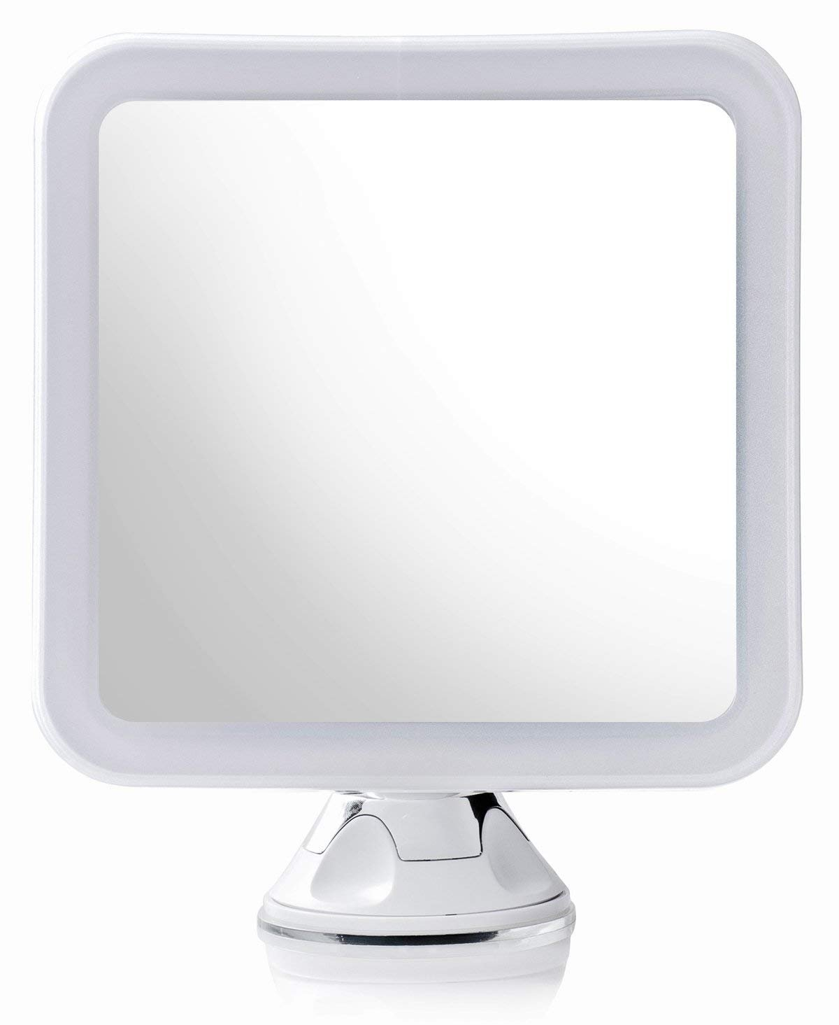 Secura Magnifying Vanity Lighted Makeup Mirror 10X with Natural Warm and White LED lighting and Locking Suction