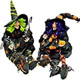 Fall/halloween Decoration Sitting Witch - 11x8x24in. (2 assorted styles)