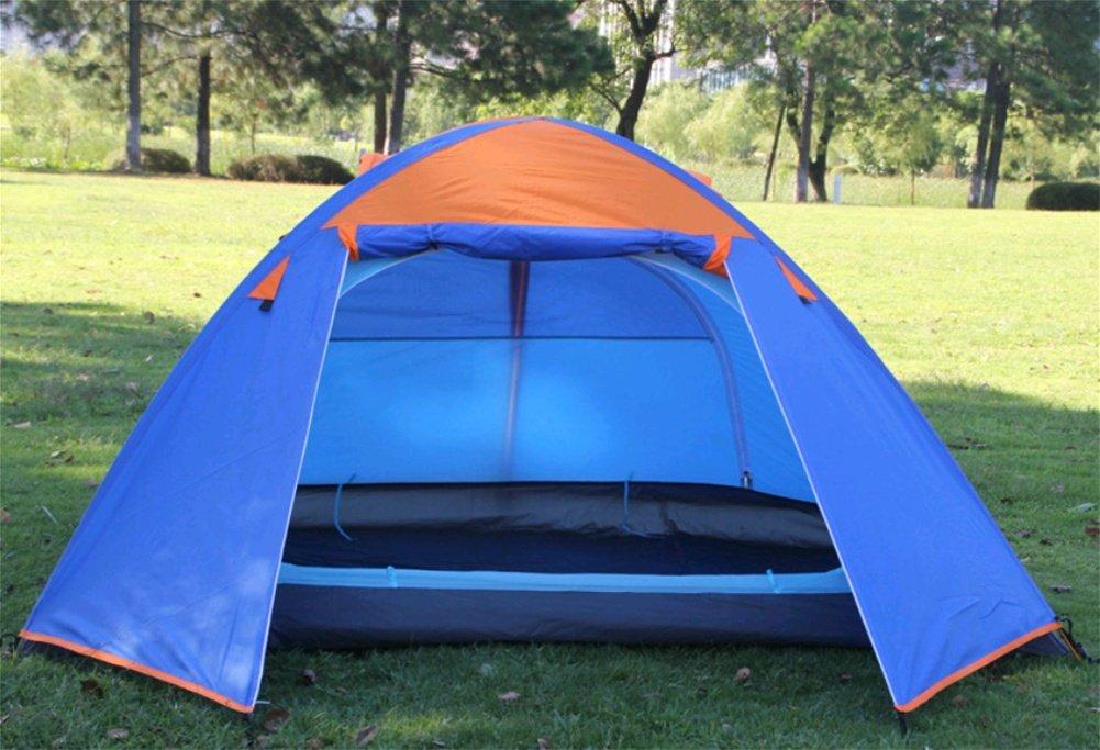 ZHANGP Doppeltes Aluminiumpole Zelt Antisturmregen kampierende Paarausrüstung im Freien