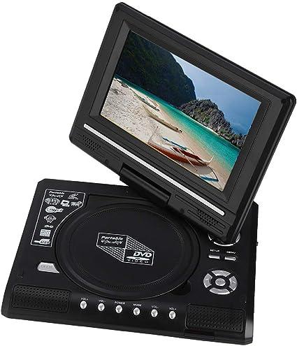 Vbestlife Reproductor de DVD Portátil 7.8 Pulgadas Recargable TV de Coche Pantalla Giratoria Imagen HD con Gamepad Soporte Tarjeta SD/MS/MMC Función de Salida AV(EU.pulg): Amazon.es: Electrónica