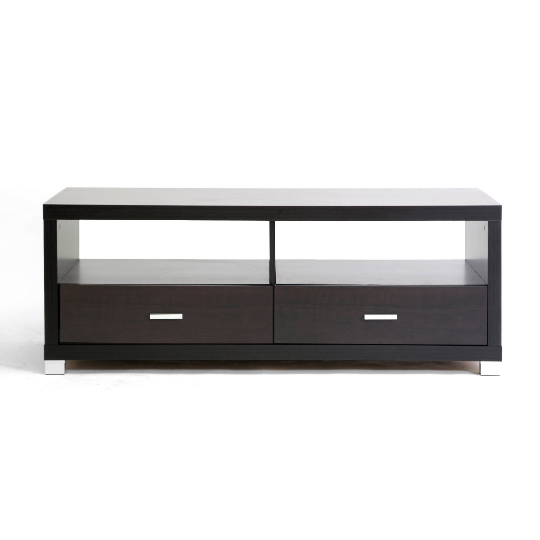 amazon com baxton studio derwent coffee table with drawers