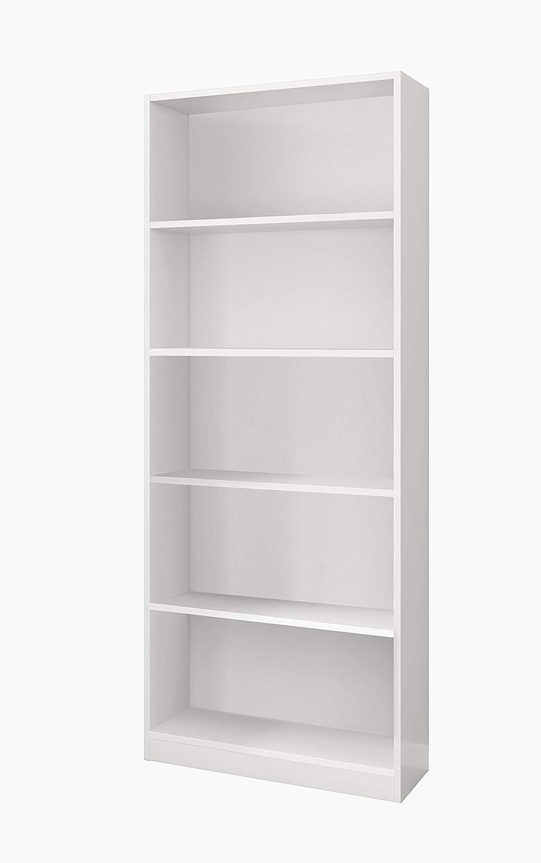 Esidra Libreria 5 Ripiani-Bianco 80 x 200 x 28 cm