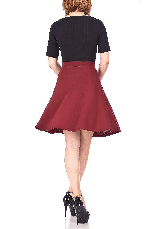 Danis Choice Simple Stretch A-line Flared Knee Length Skirt
