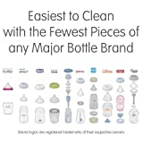 Baby Brezza Two Piece Natural Glass Bottle with Lid