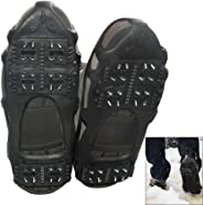 AGOOL Ice Cleats Traction Cleats Ice Grip Snow Grippers Non-Slip Over Shoe Rubber Spikes Crampons Anti Slip Crampons Stretch Footwear