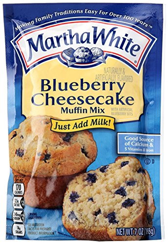 Blueberry Cheesecake Muffin - Martha White Blueberry Cheesecake Muffin Mix, 7 oz