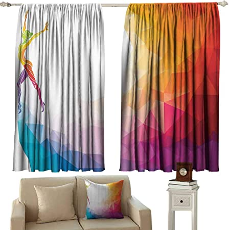 Teens Bedroom Kids Teens Gymnastics Window Curtains White Gymnastics Design Bedroom Curtains For Girls Custom Size Window Curtains #425