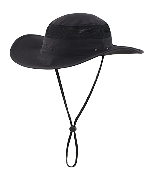8da663e9 Home Prefer Men's Sun Hat UPF 50+ Wide Brim UV Protective Safari Outback Bucket  Hat