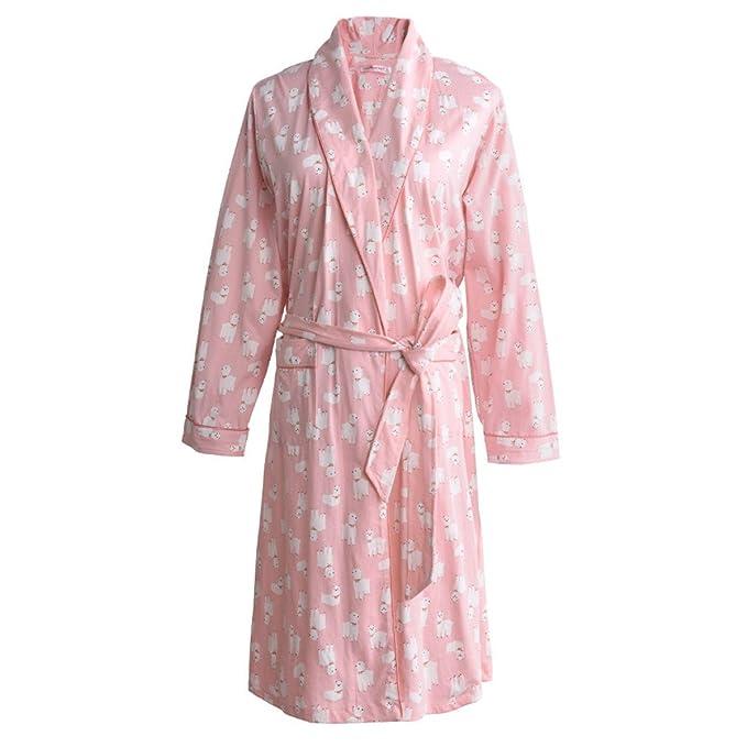 Ropa De Dormir De Las Mujeres Kimono Algodón Bathribe Manga Larga Camisón Waffle Batas Túnica De Boda Para Spa Sleeper Hotel Para Lady Girls: Amazon.es: ...