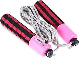 Wenquan,Câble métallique portatif de Spong sautant avec Le Compteur(Color:Jaune)