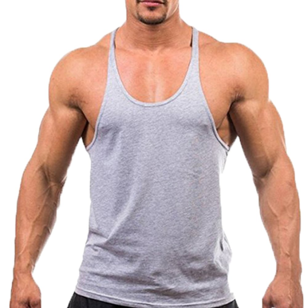 Gilet fitness da uomo Gilet aderente muscolare Gilet da ginnastica posteriore Bodybuilding Fitness Vest