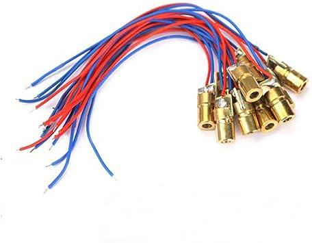 5 Pcs Mini 650nm 6mm 5V 5mW Laser Dot Diode Module Head WL Red
