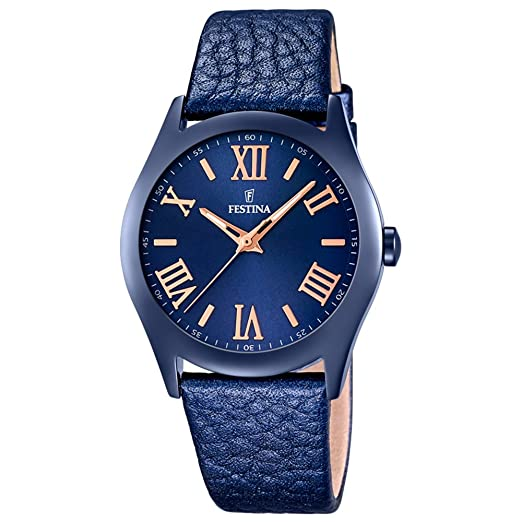 Festina Boyfriend Collection Reloj de Pulsera analógico de Cuarzo Piel F16649 - 5: Festina: Amazon.es: Relojes