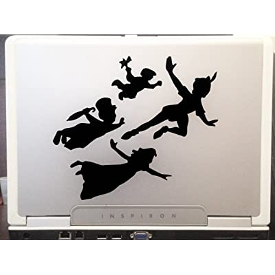 "Peter Pan Kids Car Truck Vinyl Decal Art Wall Sticker USA Classic Disney Movies 6"" Inches (Black): Home & Kitchen"