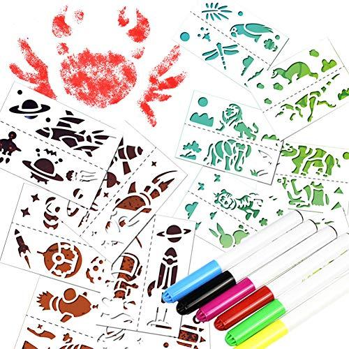 Studyset 子供用 面白いスプレーペインティングペンセット 環境に優しいステーショナリーおもちゃ