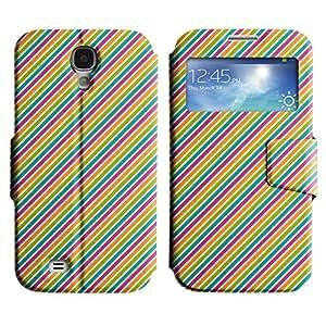 LEOCASE Líneas Diagonales Funda Carcasa Cuero Tapa Case Para Samsung Galaxy S4 I9500 No.1001079