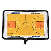 AGPTek Coach Board Coach Mappe für Basketball Professional Basketball Taktikmappe Zipper Tasche, mit Magnete, Stifte, Eraser