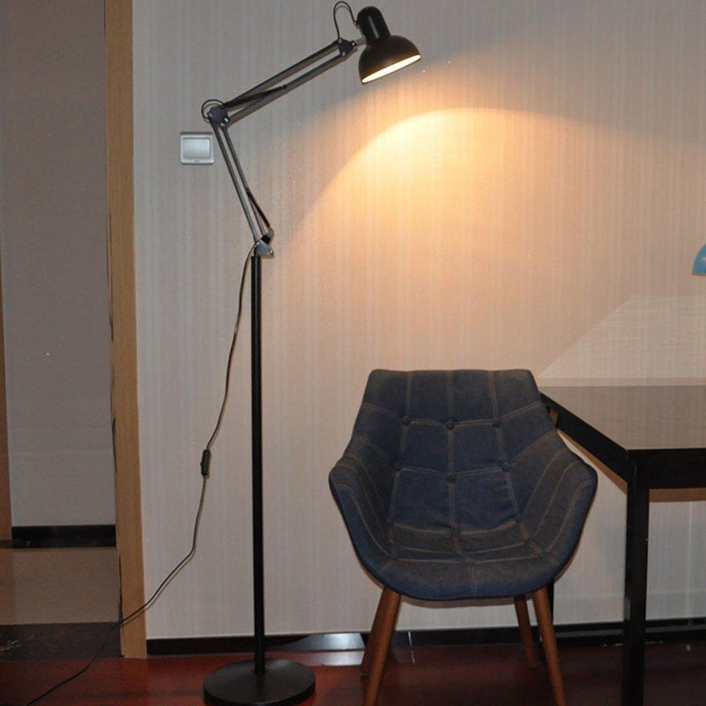 MOMO Stehlampe Modern Einfache Stehlampe Wohnzimmer Stehlampe Schlafzimmer Studie Lampe Kreative Lange Arm Vertikale Stehlampe Led Stehlampe