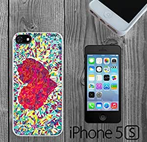 Colorful Geometric Heart Custom made Case/Cover/Skin FOR iPhone 5/5s