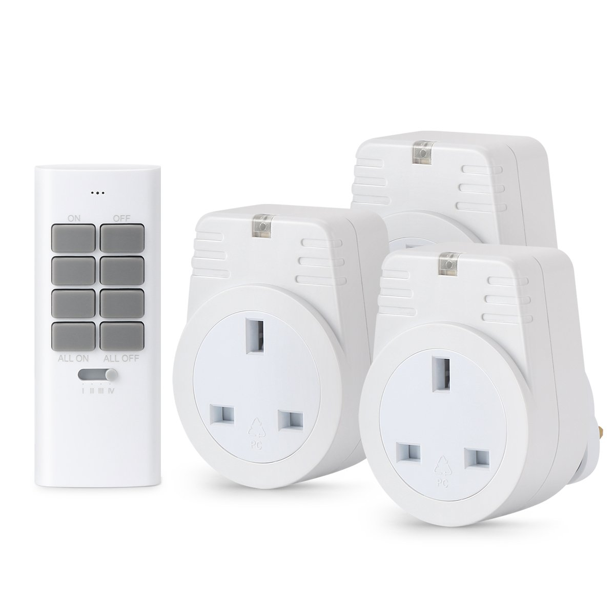 Household Appliances Operating Range Up To 30 Meter //100 Foot Lunvon 12 Programmable Channels 1000 Watt 3 Outlets 1 Remote Wireless Remote Control Sockets Electrical Plug Outlet Switch Light White