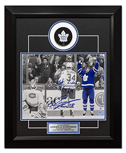 a170355f801 Andreas Johnsson Autographed Photo - & Dated 1st NHL Goal 20x24 Composite  Frame #/18