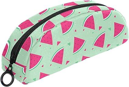 Estuche con diseño de sandía de frutas, bolsa con cremallera, bolsa de maquillaje, papelería para niños, adolescentes, niñas, escuela: Amazon.es: Oficina y papelería