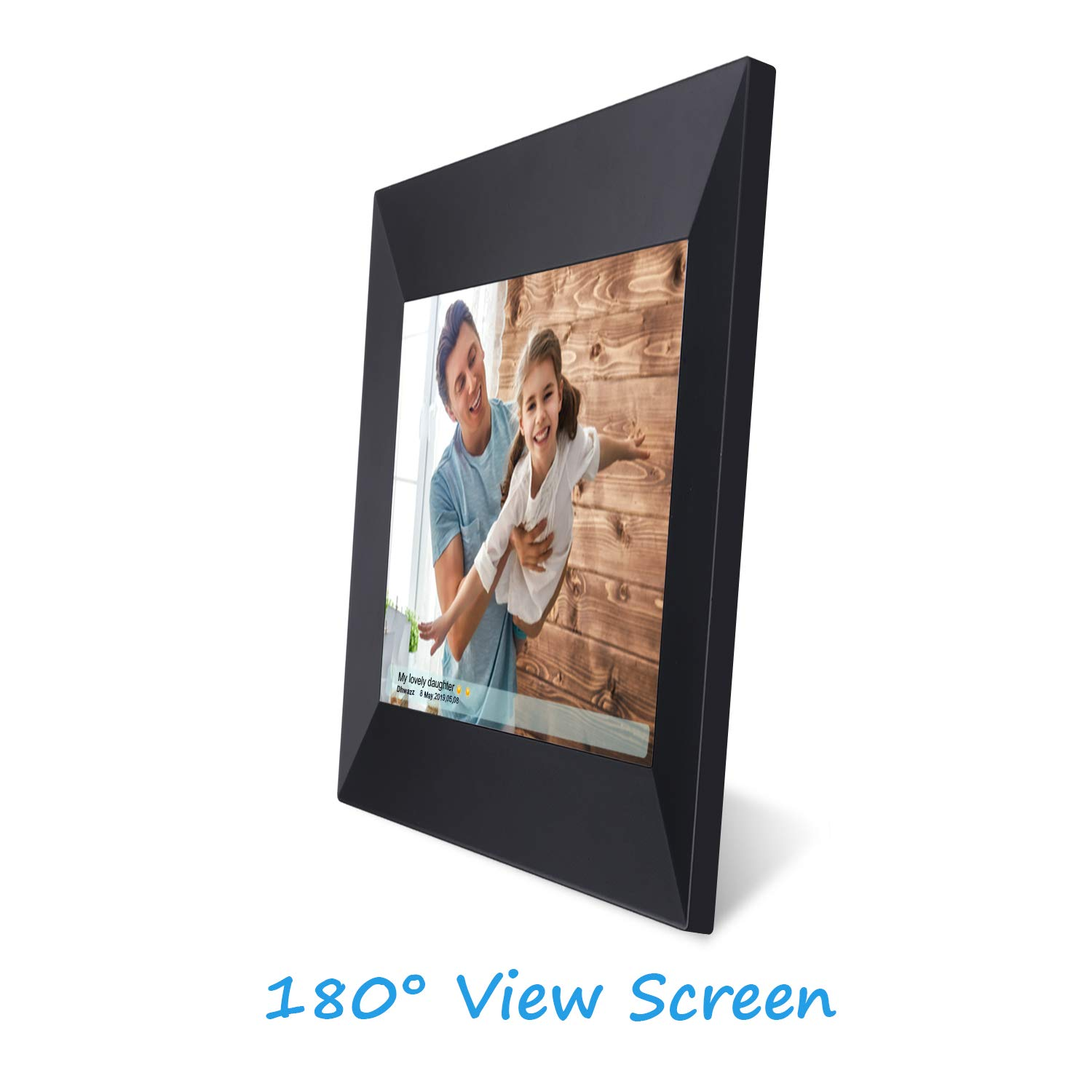 Dhwazz 8 Inch WiFi Digital Photo Frame, IPS Electronic Picture Frame with LCD Touch Screen, 8GB Internal Storage, Wall-Mountable, Display and Share Photos Instantly via Mobile APP by Dhwazz (Image #5)