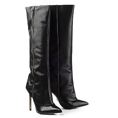 best service 26cef 72f4c Buffalo Damen Stiefel High Heel Boots Leder Schwarz ...