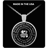 Countrywide Gifts A Trucker's Prayer. St Christopher, Patron Saint of Travelers. Protect My Trucker Husband and Keep Him…