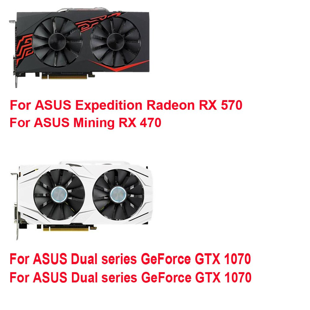 Amazon.com: inRobert A Pair Cooling Fan For ASUS Dual series GTX 1070 1060 Graphics Card Cooler (T129215SU): Computers & Accessories