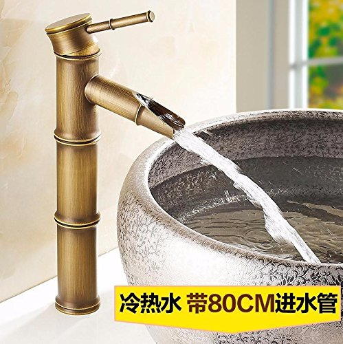AWXJX Washbasin Single Hole Single Handle Bathroom Hot And Cold Blender Copper Sink Taps by AWXJX Sink faucet