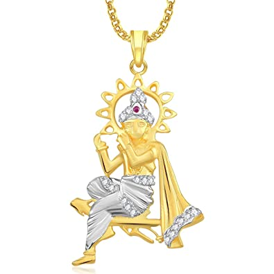 Buy krishna god pendant for men and women with chain lockets gold krishna god pendant for men and women with chain lockets gold plated in american diamond cz aloadofball Image collections
