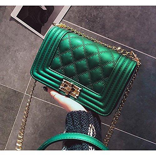 para Verde Mujer Botones GMYAN de Verde PU Bolsos Rojo Bandolera Verde Negro 75ZwSq1w